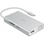 AUKEY USB C Hub 8in1 (HDMI 4k,VGA, …) um 28,99€ statt 48,99 €