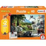 """Schmidt Spiele """"Die Tiere des Waldes"""" Puzzle + 2 Schleich Figuren um 6 €"""