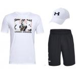 Under Armour Shirt + Short + Kappe inkl. Versand um 35,99 € statt 55,92 €