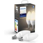 Philips Hue White E14 LED Lampe Doppelpack um 21,84 € statt 29,99 €