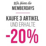 Hunkemöller Onlineshop – 20% Rabatt beim Kauf von 3 Artikeln
