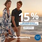 Peek & Cloppenburg – 15% Rabatt auf ALLES – exklusiv auf Sparhamster!