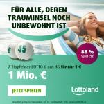 Lottoland Neukunden: 7 Tippfelder Lotto 6aus45 um 1 € statt 8,40 €
