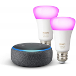 Echo Dot + 2x Philips Hue White & Color E27 um 87,36 € statt 120,88 €