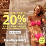 Peek & Cloppenburg – 20% Rabatt auf T-Shirts, Kleider & Bademode