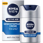 2x NIVEA MEN Active Age Gesichtspflege Creme 50ml + GRATIS Nivea Badetuch inkl. Versand um 16,85 € statt 30,95 €