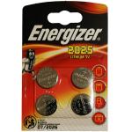 4x Energizer CR2025 Batterien (Lithium Knopfzelle) um 1,02 € statt 4,99 €