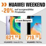 Huawei Weekend -20% Rabatt auf ausgewählte Produkte