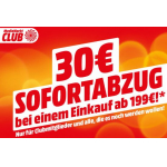 Media Markt – 30 € Rabatt ab 199 € Einkaufswert (für Clubmitglieder)