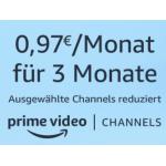 Amazon Channels 0,97 € statt bis zu 4,99 € / Monat für 3 Monate!