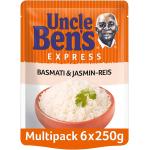 6xUncle Ben's Express Basmati & Jasmin Reis 250g um 6,33 €