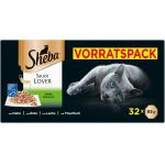 """128x Sheba """"Sauce Lover"""" Katzenfutter 85g um 35,23 € statt 56,43 €"""