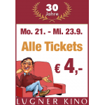 Lugner Kino – alle Tickets um 4 € (21. – 23. September)