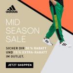 adidas – 30 % Rabatt auf reguläre Ware & 15 % Rabatt im Outlet