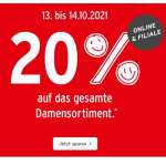 Ernsting's family – 20% Rabatt auf die Damenkollektion (nur heute)