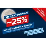 Hervis Late Night Shopping – 25% Rabatt auf Fitnessgeräte & Zubehör