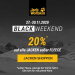 Jack Wolfskin Black Week Weekend – 20 % Rabatt auf fast alle Jacken