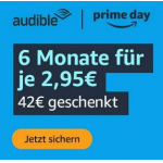 Audible – 6 Monate um 2,95 € / Monat (nur Neukunden)