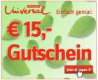 15€ Gutschein Aktion @ Universal.at