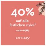 Orsay – 40% Rabatt auf alle festlichen Styles bis 13.12.