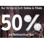 Ernsting's family – 50% Rabatt auf Weihnachtsartikel (Deko & Kleidung)