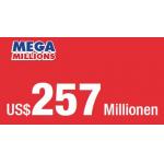 Mega Millions – 257$ Millionen Jackpot – Tipps mit 40% Rabatt!