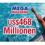 Mega Millions – 750$ Millionen Jackpot – Tipps mit 40% Rabatt!