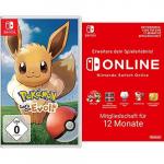 Pokémon: Let´s Go, Evoli + 12 Monate Switch Online um 46,99 €