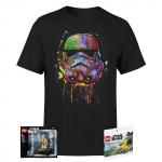 Stormtrooper Splat T-Shirt + 2 Mini LEGO Figuren um 17,99 € statt 33,87 €
