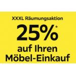 XXXLutz.at – 25% Rabatt auf euren Möbel-Einkauf bis 22.2.