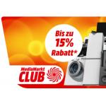Media Markt Club Days – bis zu 15% Rabatt auf viele Kategorien!