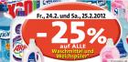 -25% auf alle Waschmittel und Weichspüler bei Spar, Interspar und Eurospar