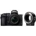 NIKON Z 50 Kamera mit Objektiv Z DX 16-50mm 3.5-6.3 VR und Bajonettadapter FTZ um 689 € statt 999 € (Bestpreis)