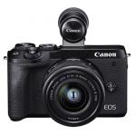 Canon Systemkamera EOS M6 Mark II mit Objektiv EF-M 15-45mm 3.5-6.3 IS STM + EVF-DC2 um 738 € statt 1.047,73 €