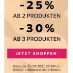 Marionnaud – 25% Rabatt ab 2 Produkten / 30% Rabatt ab 3 Artikel