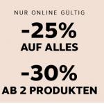 Marionnaud – 25% Rabatt bzw. 30% Rabatt ab 2 Artikel