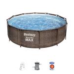 Bestway Power Steel Pro Pool Ø 366 x 100 cm + Filterpumpe + Filterkartusche + Leiter inkl. Versand um 149 € (neuer Bestpreis)