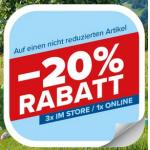 Hervis – 20% Rabatt auf nicht reduzierte Artikel (1x online, 3x im Store)