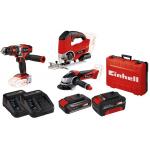 Einhell Akku-Set (3 Produkte, Akku-Set 2,5Ah + 4Ah, Koffer) um 229 €