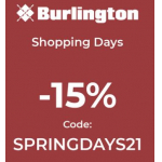 Burlington – 15% Rabatt auf reguläre Ware (MBW: 49 €) & gratis Versand