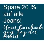 Mustang Onlineshop – 20% Rabatt auf alle Jeans (nur heute)