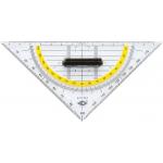 Wedo Geometrie Dreieck 16cm (abnehmbarer Griff) um 0,88 €