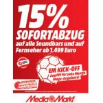 Media Markt – 15% Rabatt auf Soundbars & TVs ab 1.499 €