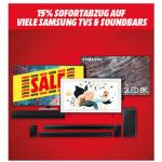 Media Markt – 15% Rabatt auf Samsung Soundbars & TVs