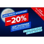 Hervis Late Night Shopping – 20% Rabatt auf viele Outdoor-Artikel