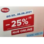 Hervis SportsClub – 25% Rabatt auf viele Produkte (bis 06.06.)