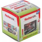 fischer DUOPOWER 8 x 40 S (50x Universaldübel + 50x Sicherheitsschraube) um 5,02 € statt 10,24 €