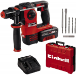 Einhell Akku-Bohrhammer HEROCCO Kit + 5 Power X-Change (3 Bohrer, 2 Meißel, 3 Ah Akku und Ladegerät, E-Box) um 133,30 € statt 182,85 €