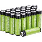 24x Amazon Basics AA-Batterien (wiederaufladbar, 2000 mAh) um 19,81 €
