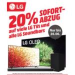 20% Rabatt auf LG TVs & Soundbars bei MediaMarkt.at bis 26.6.